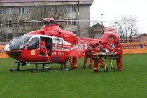 Copii duși cu elicopterul