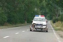 Accident cu mașina poliției