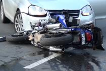 Motociclist accidentat în centrul orașului