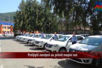 Polițiștii nemțeni au primit mașini noi