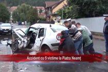 Accident cu 5 victime la Piatra Neamț