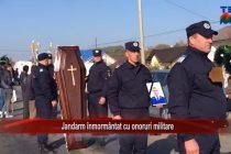 Jandarm înmormântat cu onoruri militare