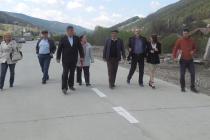 Inaugurare drum la Taşca