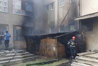 """Incendiu la grădiniţa Colegiului Tehnologic """"Spiru Haret"""""""