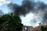 Incendiul de la fabrica de ciment din Tașca, stins după mai bine de 5 ore