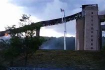 Incendiu la Fabrica de ciment din Tașca