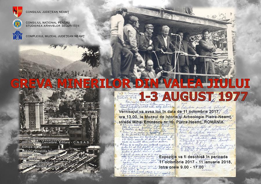 greva minerilor valea jiului 1-3 august 1977