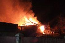 Incendiu la o anexă gospodărească, o bătrână a făcut atac de panică