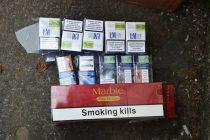 Ţigarete confiscate din pieţe de poliţişti