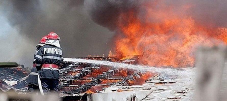 Incendiu provocat de un coș de fum necurățat la o locuință din comuna Alexandru cel Bun