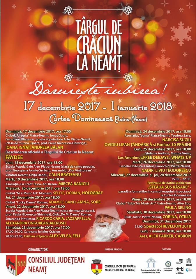 Program 2017Targul de Craciun la Neamt
