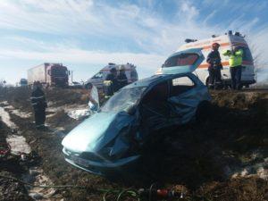Accident rutier autoturism Horia