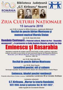 Afis Ziua Culturii Nationale
