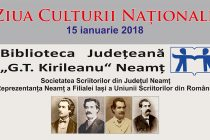 """Ziua Culturii Naționale, sărbătorită la Biblioteca Județeană """"G. T. Kirileanu"""""""