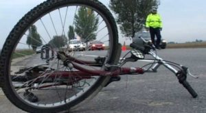 biciclist accidentat iarna