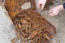 Muniție neexplodată descoperită lângă Tămăşeni
