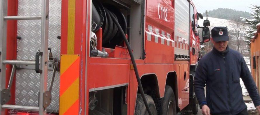 Incendiu la un garaj auto din comuna Poienari
