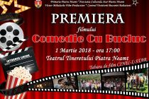 """Premiera filmului """"Comedie cu… bucluc"""" la Teatrul Tineretului"""