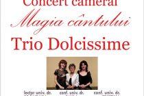 "Concert cameral Trio Dolcissime în sala ""Cupola"" a Bibliotecii Județene"