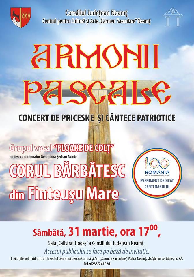 Armonii Pascale afis