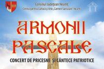 """Armonii Pascale – recital organizat de Centrul pentru Cultură şi Arte """"Carmen Saeculare"""""""