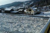 Probleme din cauza gheţii de pe râul Bistriţa