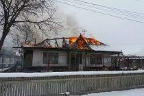 Incendiu la o locuință din comuna Bodești