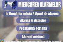 Miercurea alarmelor, exerciţiu de avertizare a populaţiei
