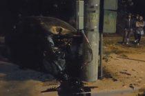 Aflat sub influenţa alcoolului, un şofer din Sagna s-a oprit într-un stâlp