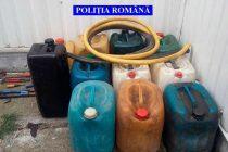 Prinşi în flagrant de poliţişti când furau combustibil