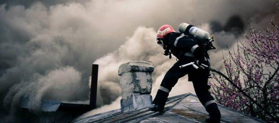 Acoperișul unei locuințe din Sagna a luat foc din cauza unui coș de fum deteriorat