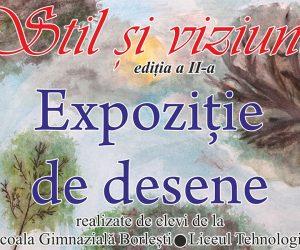 """Expoziția de pictură şi desen """"Stil și viziune"""" revine la Biblioteca Județeană"""
