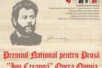 """Premiul pentru proză """"Ion Creangă, Opera Omnia"""" 2018"""