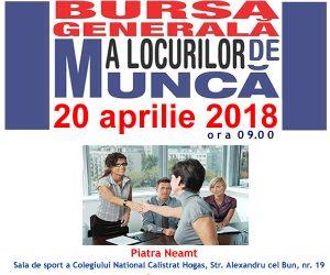Bursa generală a locurilor de muncă, aprilie 2018