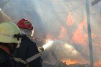 Exerciţiu de stingere a incendiilor în zona Mănăstirii Văratec
