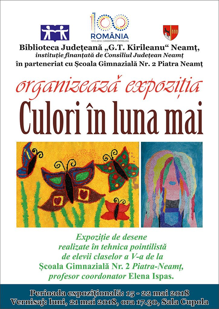 Afis expozitie Culori in luna mai
