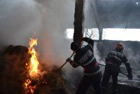 1.5 tone de fân au ars în urma unui incendiu în comuna Bârgăuani