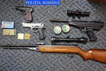 Arsenal de arme şi muniţie descoperit la un cetăţean din Secuieni