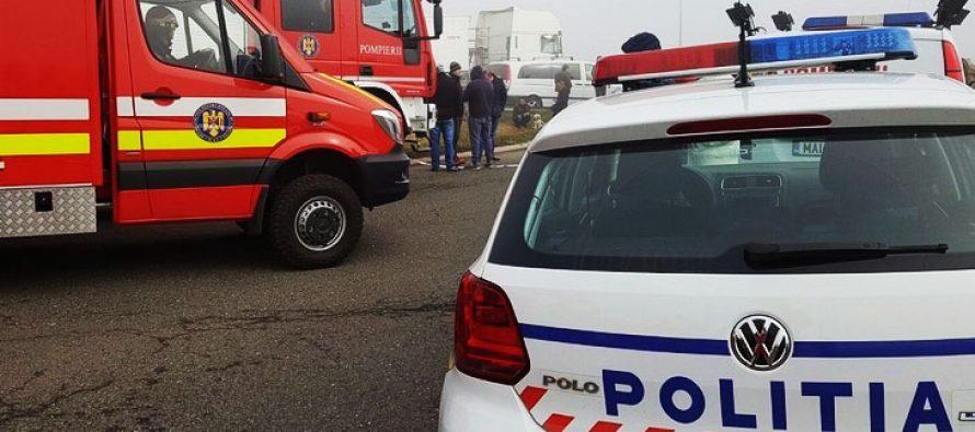 Accident rutier cu 3 victime pe E85, în localitatea Tămășeni