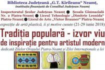 Expoziţie de desene, ii şi motive populare cusute la Biblioteca Judeţeană