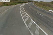 Un cetăţean a modificat marcajul rutier ca să faciliteze intrarea clienţilor