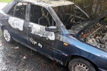 Un autoturism din Piatra Neamt a ars din cauza unor copii