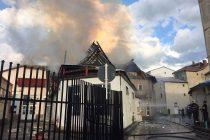 Incendiu la o unitate economică din Tg. Neamţ