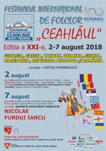 Afis Fest de folclor Ceahlaul