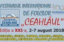 """Începe cea de-a XXI ediţie a Festivalului Internaţional de Folclor """"Ceahlăul"""""""