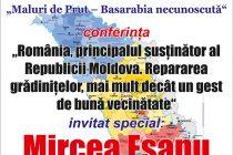 """O nouă ediţie """"Maluri de Prut. Basarabia necunoscută"""". Invitat: Mircea Eşanu"""