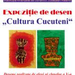 Afis expozitie de desen Cultura Cucuteni