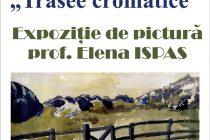 Expoziţia de pictură a Elenei Ispas la Biblioteca Judeţeană
