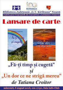 lansare carte Tatiana Croitor