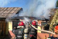 O magazie a unei locuințe din Horia a ars din cauza unui chiștoc de țigară